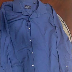 Blue dressy men's shirt